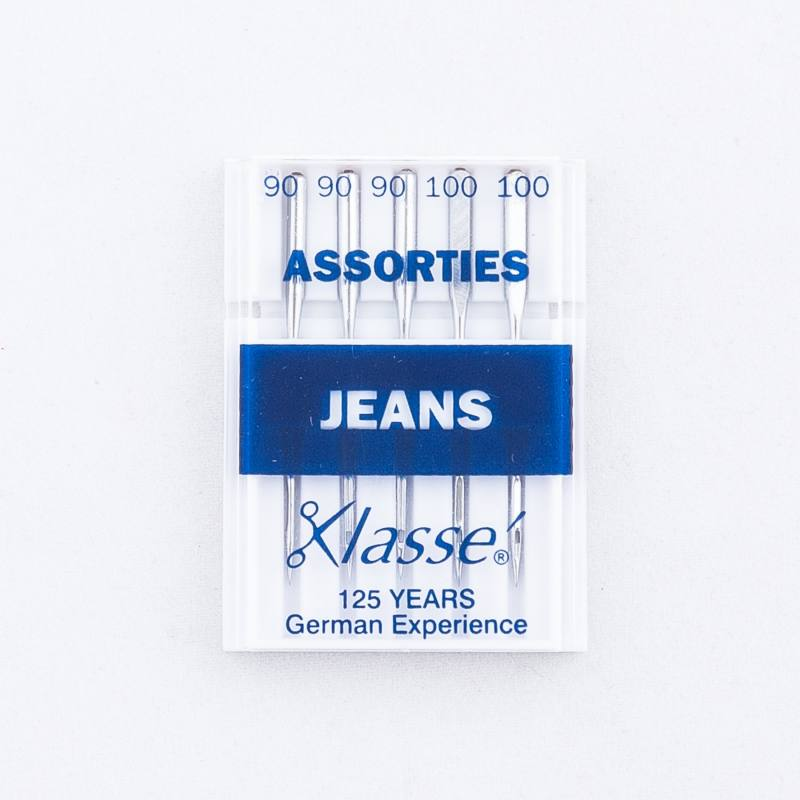 Aiguilles machines Jeans assorties