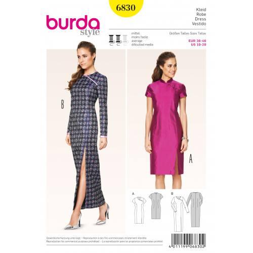 Patron Burda 6830 : Robe T36 à 46