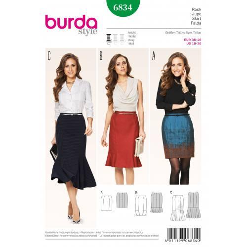 Patron Burda 6834 : Jupe T36 à 46
