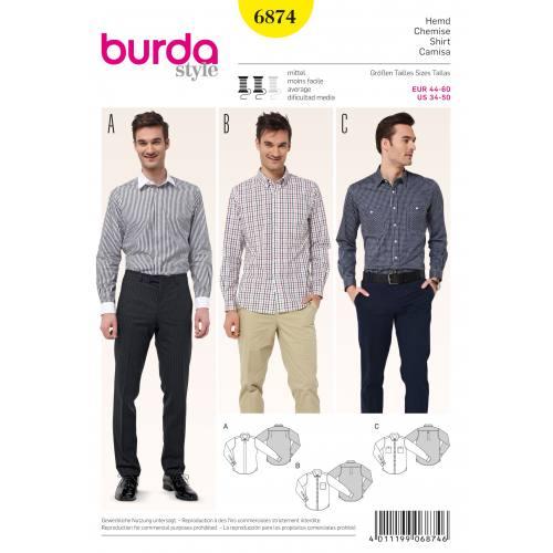 Patron Burda 6874 : Chemise T44 à 60