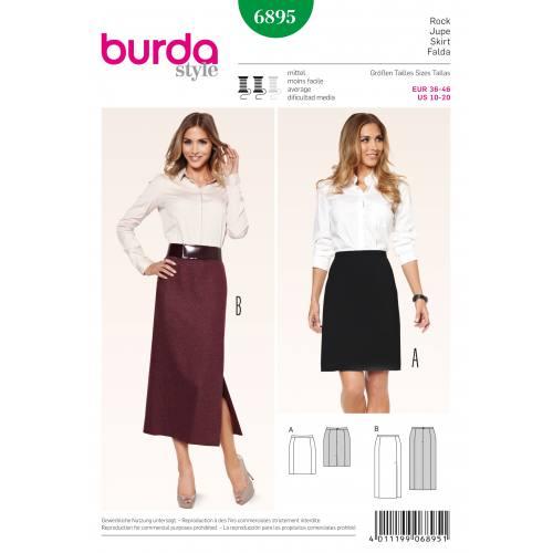 Patron Burda 6895 : Jupe T36 à 46