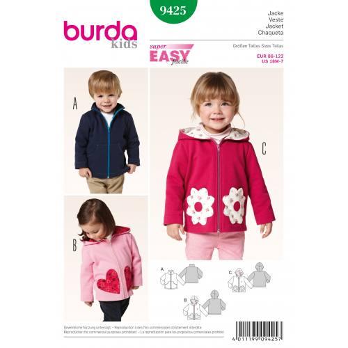 Patron Burda 9425 : Veste T86 à 122