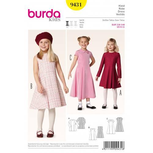 Patron Burda 9431 : Robe T116 à 146