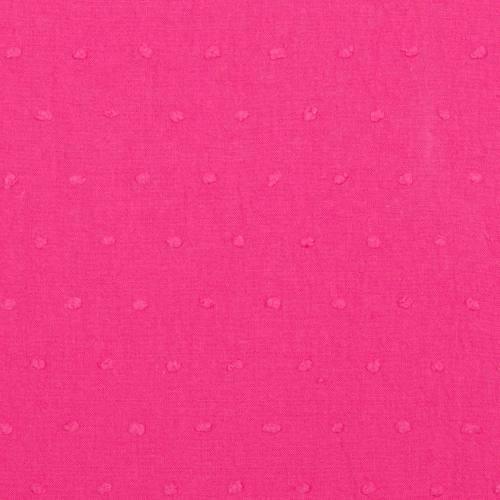 Voile de coton plumetis fuchsia