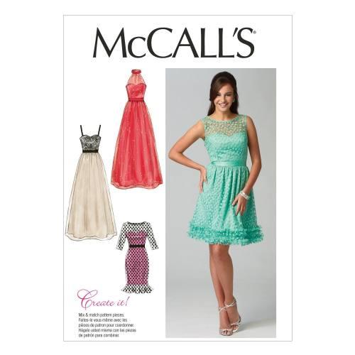 Patron McCall's M6893 : Robes T36 à 44