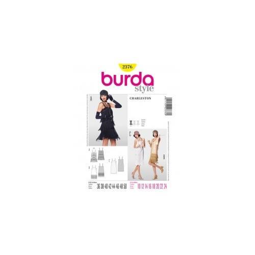 Patron Burda 2376 déguisement: Robe charleston Taille : 36 à 50
