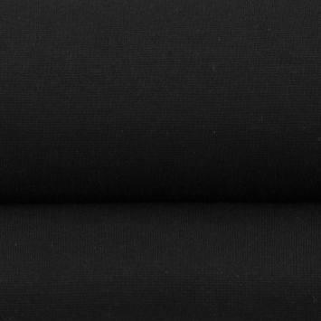 Tissu tubulaire bord-côte noir