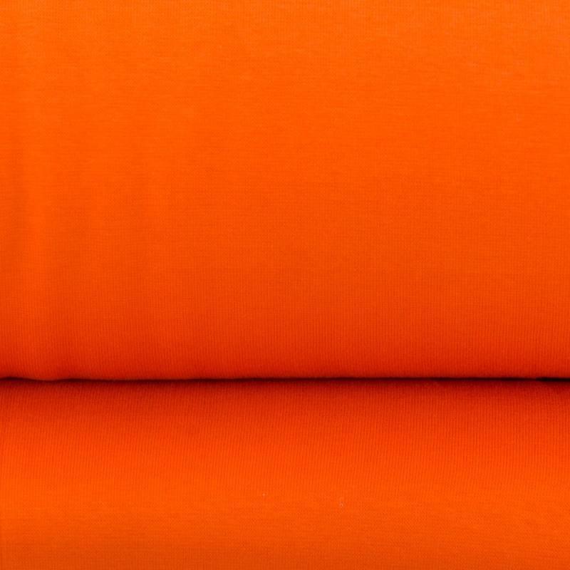 Tissu tubulaire bord-côte orange