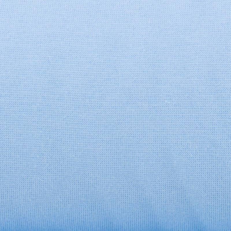 Tissu tubulaire bord-côte bleu pastel