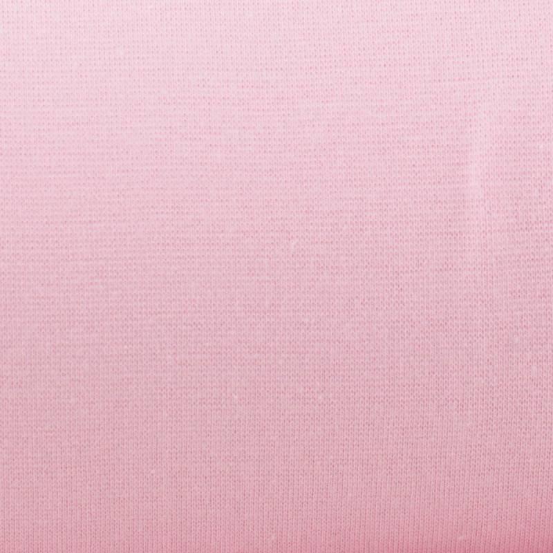 Tissu tubulaire bord-côte rose clair