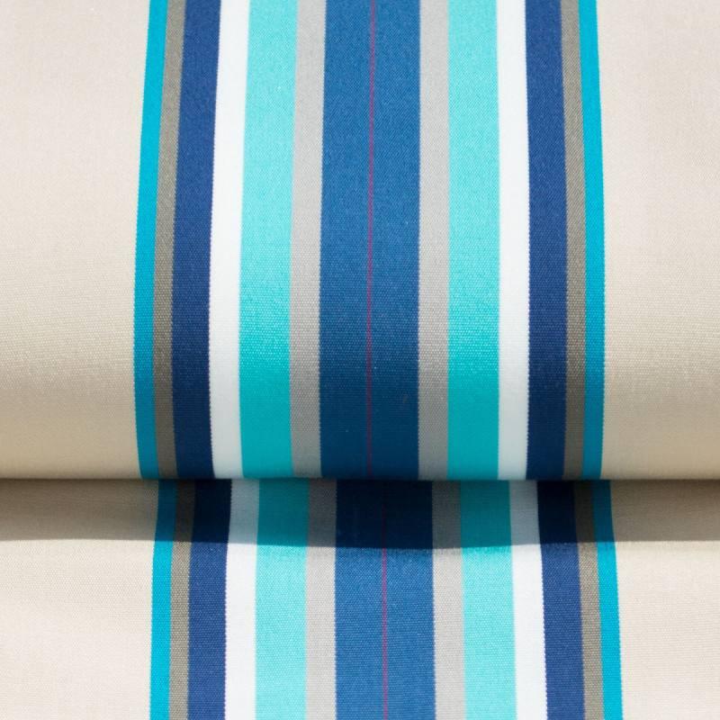 Toile transat playa cap ferret bleue tissus price for Tissu pour transat exterieur
