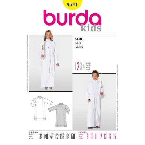 Patron N°9541 Burda style : Aube Taille : 134cm- 170cm