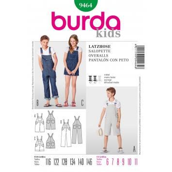 Patron N°9464 Burda Kids : Salopette Taille : 116cm - 146cm