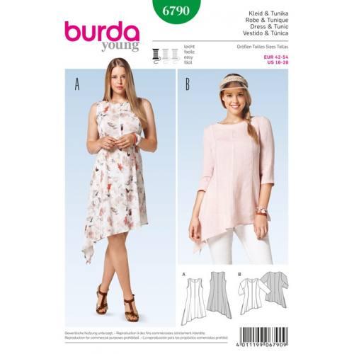 Patron N°6790 Burda Style : Robe et tunique Taille : 42-54