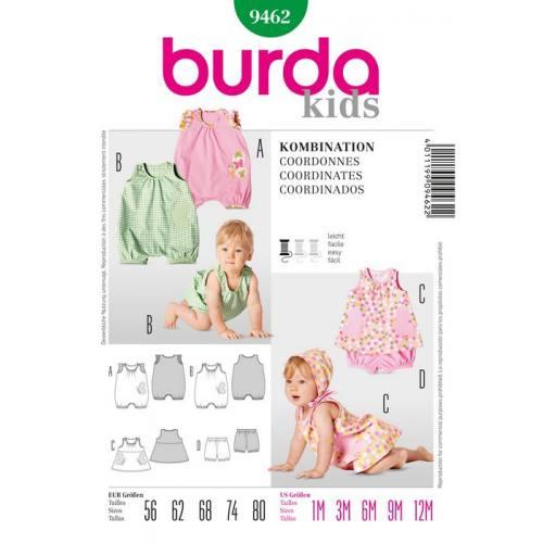 Patron N°9462 Burda Kids : Coordonne Taille : 56cm -80cm