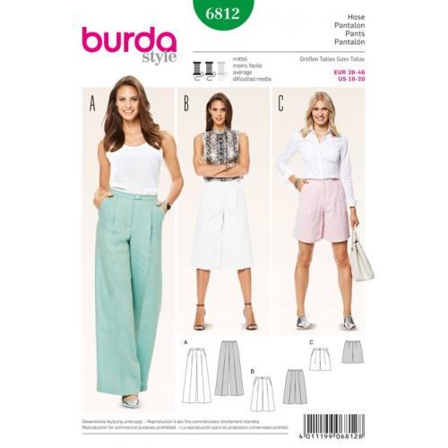 Patron N°6812 Burda Style : Pantalon Taille : 36-46