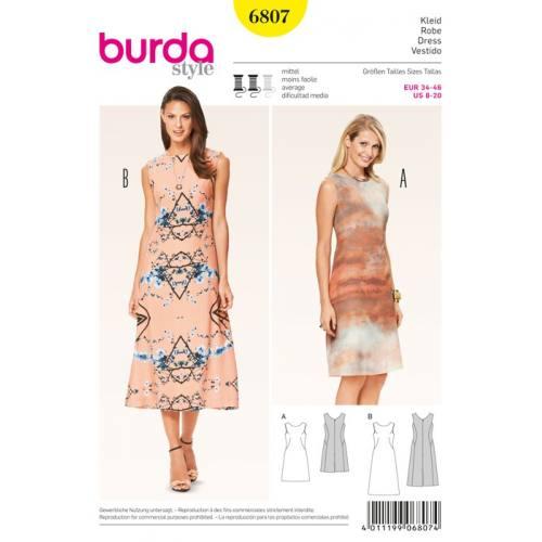 Patron N°6807 Burda Style : Robe Taille : 34-46