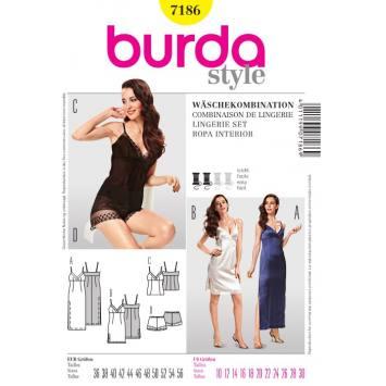 Patron N°7186 Burda Style : Combinaison de lingerie Taille : 36-56