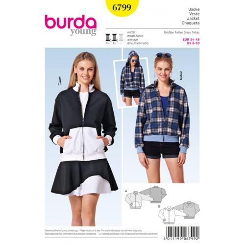Patron N°6799 Burda Style : VesteTaille : 34-46