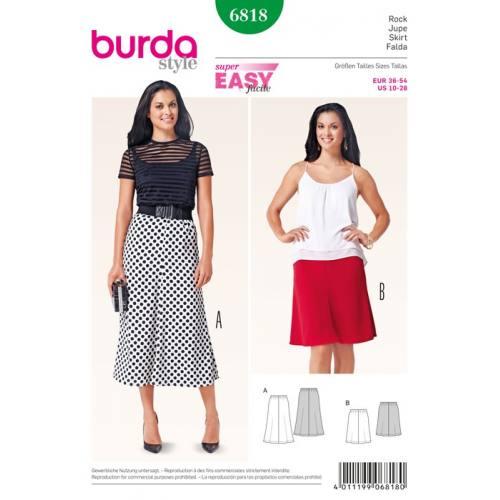 Patron N°6818 Burda Style : Jupe Taille: 36-54