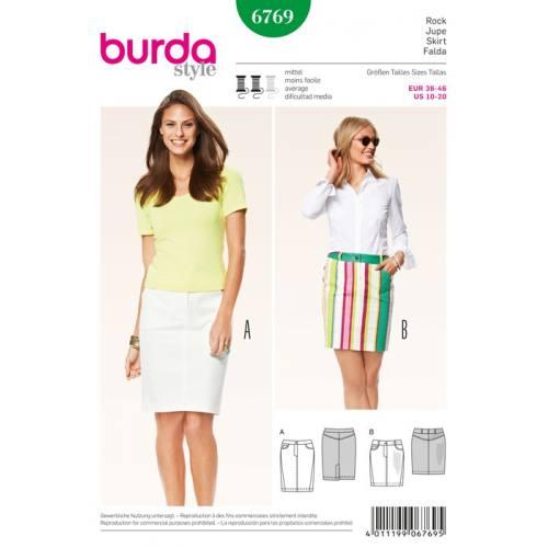 Patron N°6769 Burda Style : Jupe Taille: 36-46