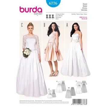 Patron N°6775 Burda Style: Robe cocktail ou de mariée Taille : 34-44