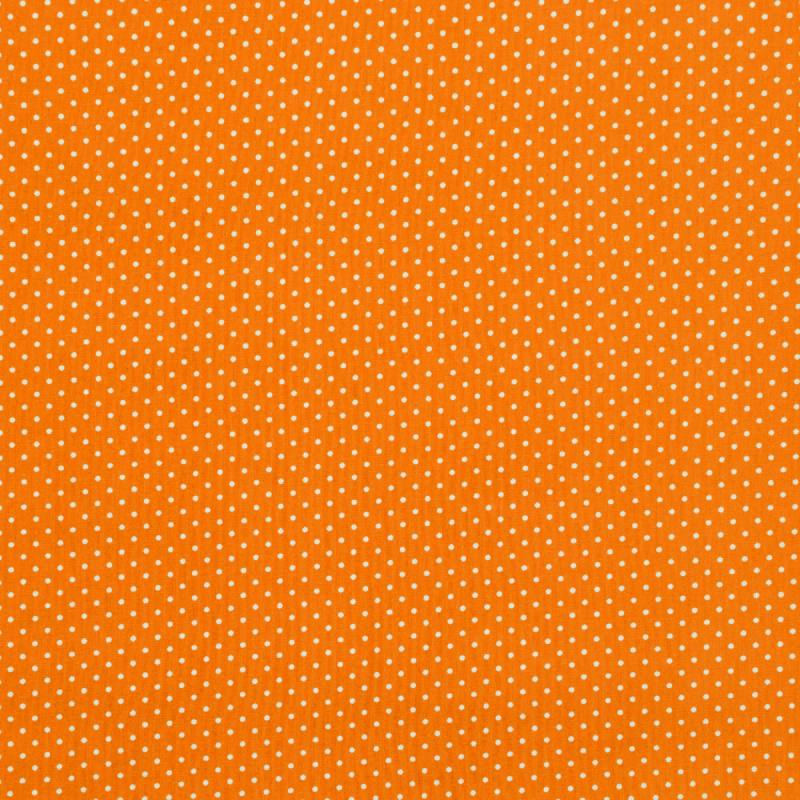 Coton orange à petit pois 1mm