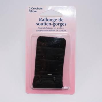 Rallonge de soutien-gorge noire 38mm