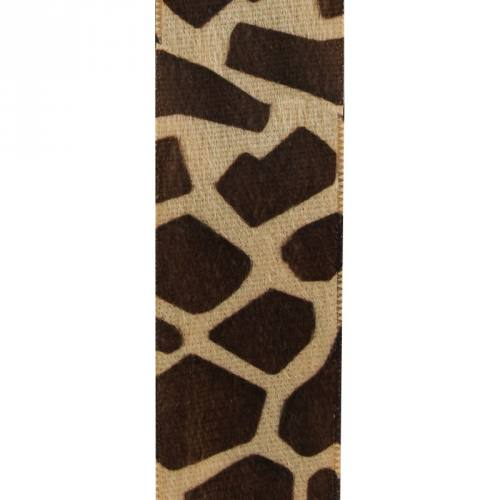 Ruban velours imprimé girafe
