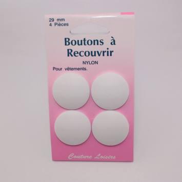 Boutons nylon N°29 à recouvrir X4