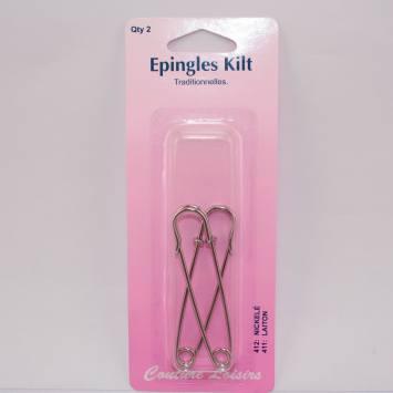 Epingles Kilt nickelée X2