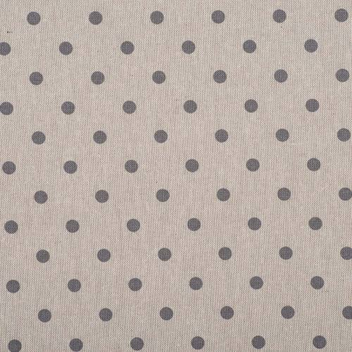 Coton enduit motifs pois gris