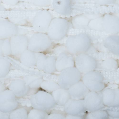 Galon pompon 15 mm blanc