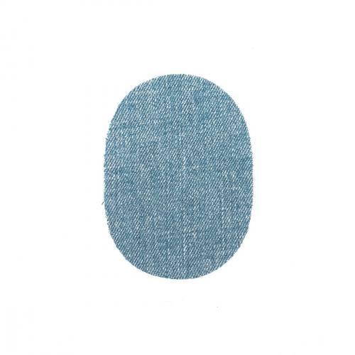 Pièces thermocollantes ovale jeans délavé X2