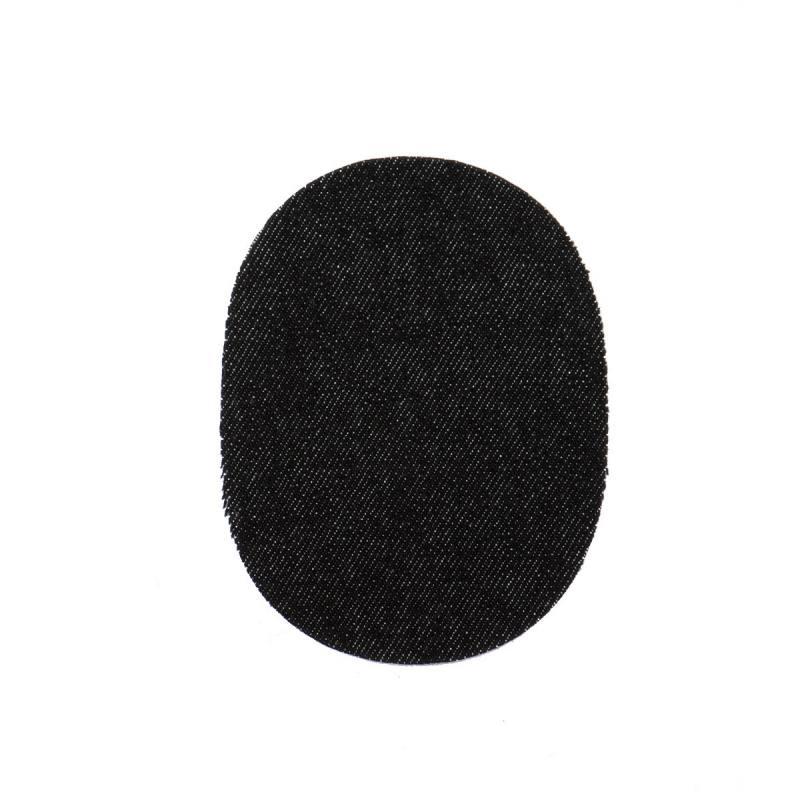 Pièces thermocollantes ovale jeans noir X2