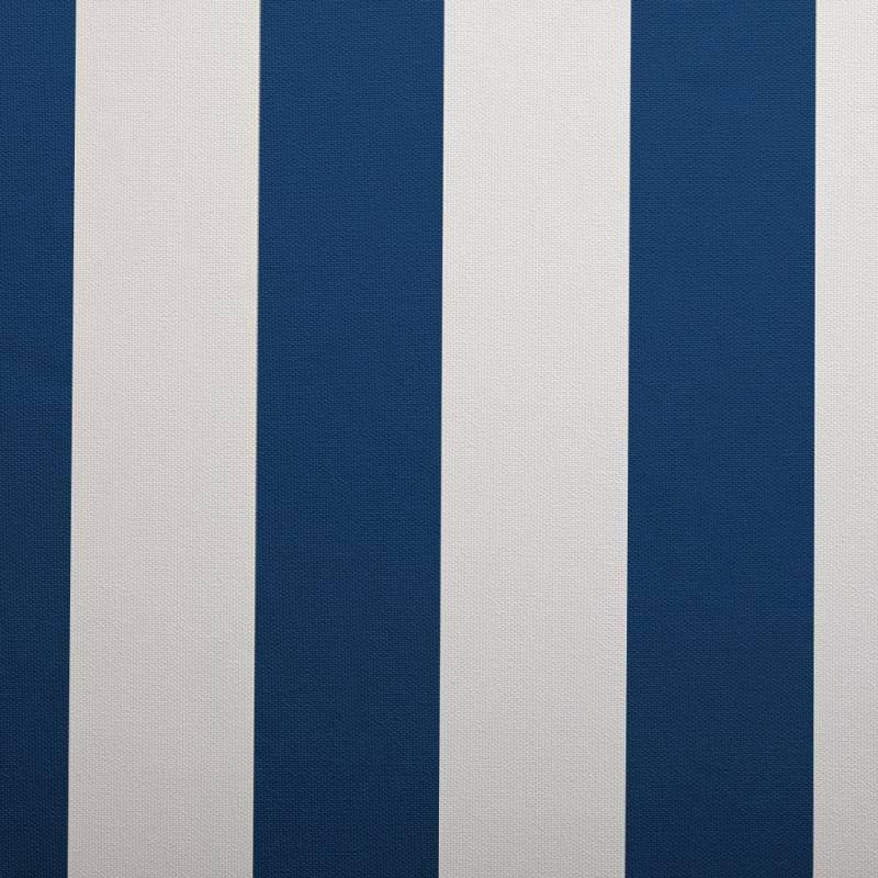 Simili cuir nautique rayé bleu marine