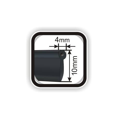 Passepoil simili cuir 10 mm gris foncé