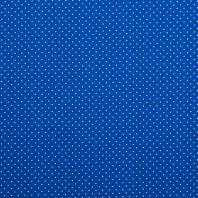 Coton bleu roi à petit pois 1mm