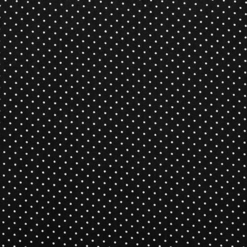 Coton noir à petit pois 1mm