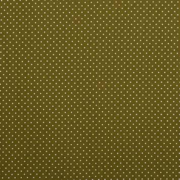 Coton kaki à petit pois 1mm