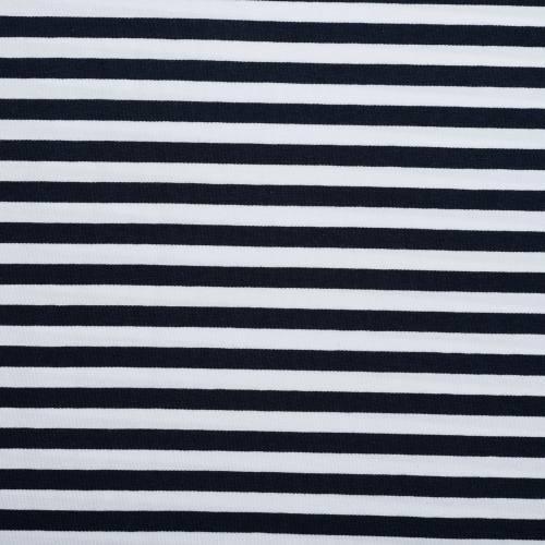 Jersey rayé bleu marine et blanc