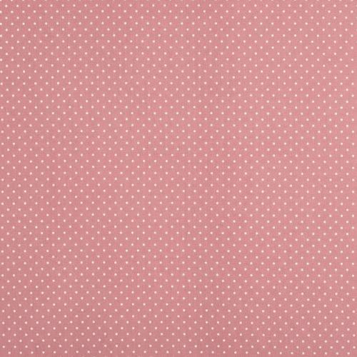 Coton vieux rose à petit pois 1mm