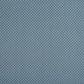 Coton gris foncé à petit pois 1mm gris clair