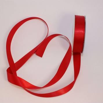 Ruban satin en bobine rouge 13 mm
