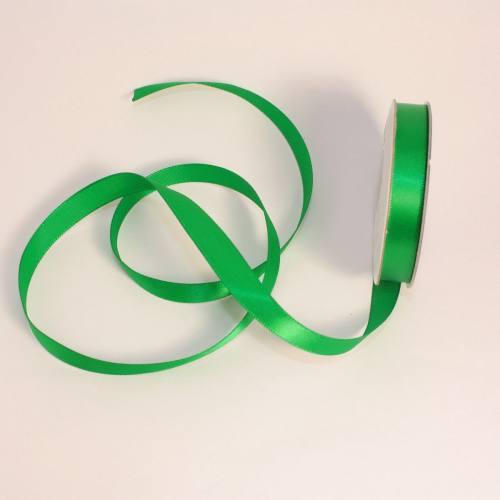Ruban satin en bobine vert 9 mm