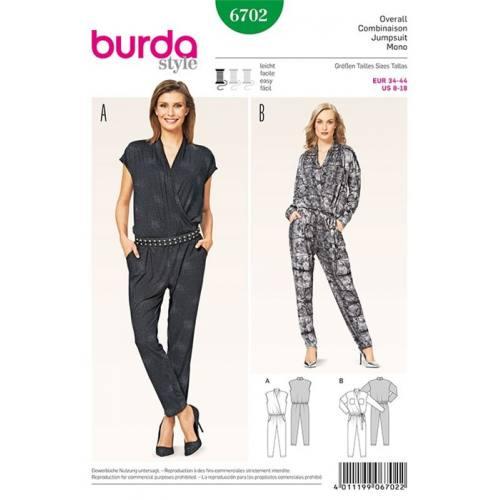 Patron Burda 6702 : Combinaison 34-44