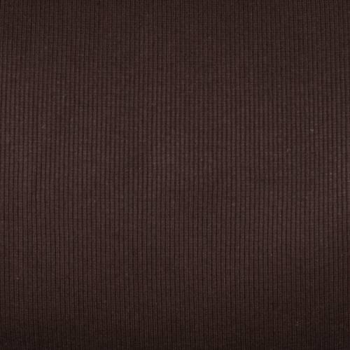 Tissu tubulaire bord-côte maille marron