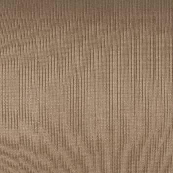 Tissu tubulaire bord-côte maille marron clair