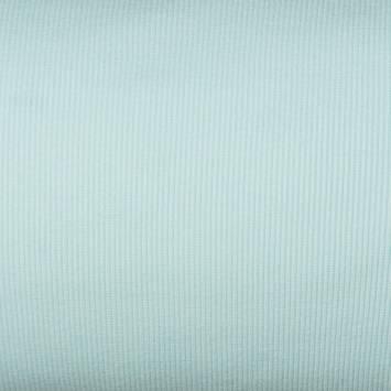 Tissu tubulaire bord-côte maille vert d'eau