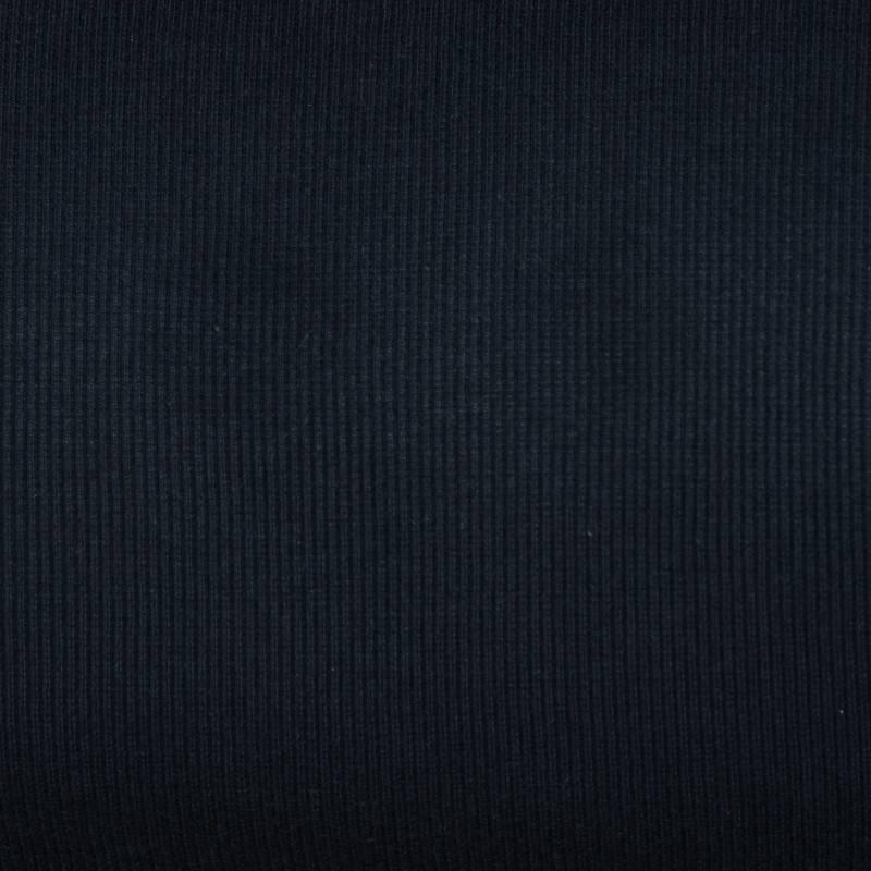 Tissu tubulaire bord-côte maille bleu nuit